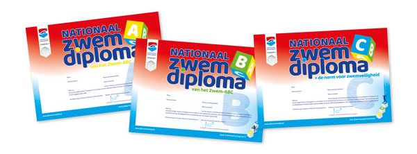 Logo Nationale Zwemdiploma's